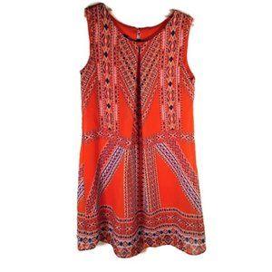 Amy Byer Girls Size 7 Sleeveless Orange Dress